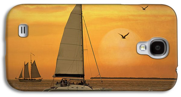 Activity Photographs Galaxy S4 Cases - Sunset Sail Galaxy S4 Case by Juli Scalzi
