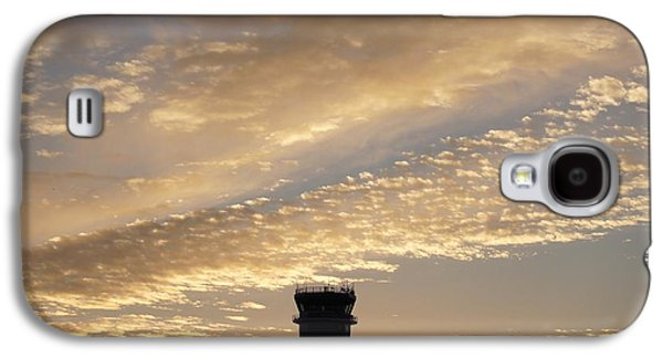 Sunset Abstract Galaxy S4 Cases -  Glowing Sunset Sky Galaxy S4 Case by Sheela Ajith