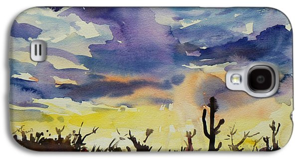 Sonora Paintings Galaxy S4 Cases - Sunset Sonora Galaxy S4 Case by Xueling Zou