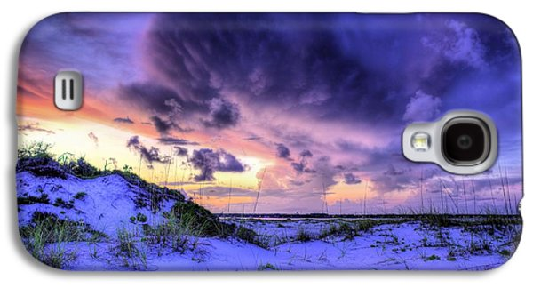 Florida Panhandle Galaxy S4 Cases - Sunset Storms Over Pensacola Beach Galaxy S4 Case by JC Findley