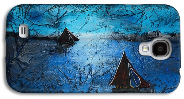 Dreamscape Galaxy S4 Cases - Sunset With Galway Hookers Galaxy S4 Case by Alys Caviness-Gober
