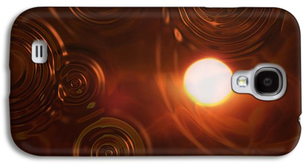 Sunset Abstract Digital Galaxy S4 Cases - Sunsets and raindrops Galaxy S4 Case by Paul Madden