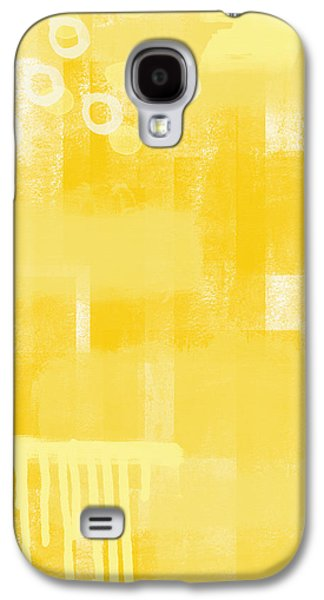 Drips Galaxy S4 Cases - Sunshine- abstract art Galaxy S4 Case by Linda Woods