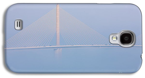 Sunshine Skyway Bridge Galaxy S4 Cases - Sunshine Skyway Bridge in Fog I Galaxy S4 Case by Clarence Holmes