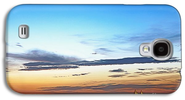Sunshine Skyway Bridge Galaxy S4 Cases - Sunshine Skyway Bridge Galaxy S4 Case by Skip Nall