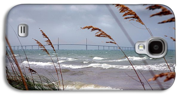 Sunshine Skyway Bridge Galaxy S4 Cases - Sunshine Skyway Bridge Viewed From Fort De Soto Park Galaxy S4 Case by Mal Bray