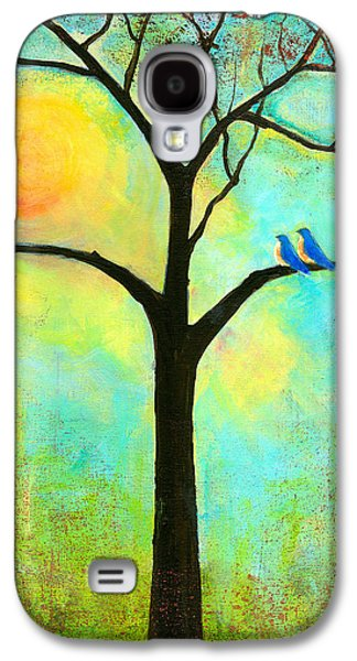 Inspired Paintings Galaxy S4 Cases - Sunshine Tree Galaxy S4 Case by Blenda Studio
