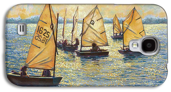 Sun Galaxy S4 Cases - Sunwashed Sailors Galaxy S4 Case by Marguerite Chadwick-Juner