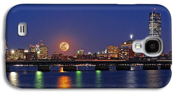 Super Moon Over Boston Galaxy S4 Case by Juergen Roth