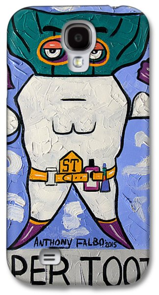 Pull Galaxy S4 Cases - Super Tooth Galaxy S4 Case by Anthony Falbo