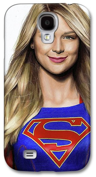 Supergirl Drawing Galaxy S4 Case by Jasmina Susak