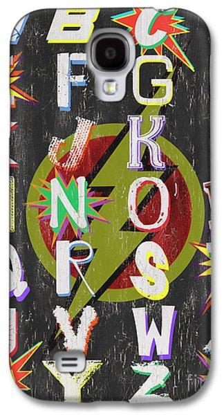Superhero Alphabet Galaxy S4 Case by Debbie DeWitt