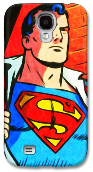 Animation Paintings Galaxy S4 Cases - Superman Galaxy S4 Case by Lanjee Chee