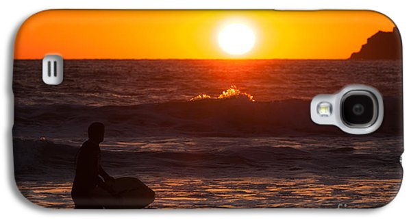 Sun Galaxy S4 Cases - Surfer At Sunset  Galaxy S4 Case by Amanda And Christopher Elwell