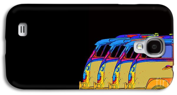 Colorful Abstract Galaxy S4 Cases - Surfer Vans 7 Galaxy S4 Case by Edward Fielding