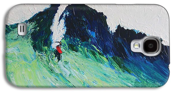 Landscape Acrylic Prints Galaxy S4 Cases - Surfing 6389 Galaxy S4 Case by Robert Yaeger