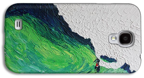 Landscape Acrylic Prints Galaxy S4 Cases - Surfing 6872 Galaxy S4 Case by Robert Yaeger