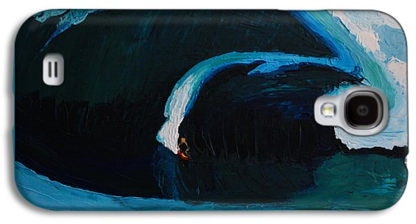 Landscape Acrylic Prints Galaxy S4 Cases - Surfing 6914 Galaxy S4 Case by Robert Yaeger