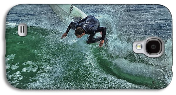 Steamer Lane Galaxy S4 Cases - Surfing Steamers Galaxy S4 Case by Paul Gillham