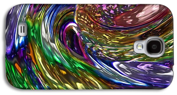 Oil Slick Digital Galaxy S4 Cases - Surfing The Oil Spill Galaxy S4 Case by Alec Drake