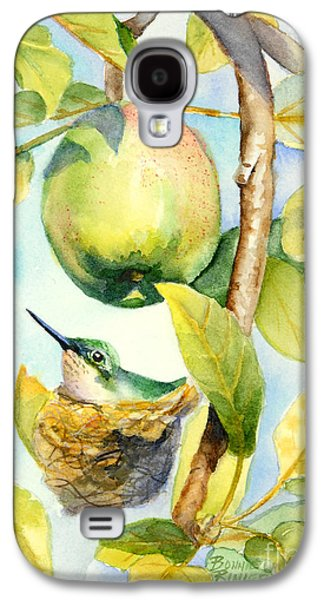 Apple Trees Galaxy S4 Cases - Surprise in the Apple Tree Galaxy S4 Case by Bonnie Rinier