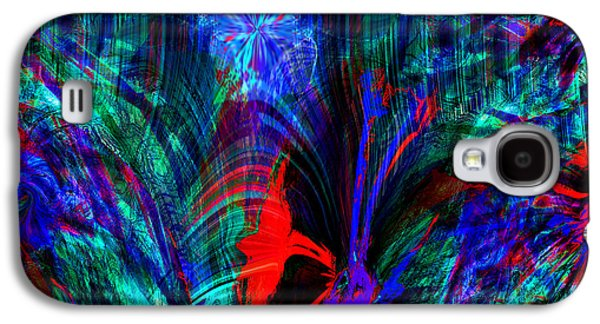 Abstract Landscape Galaxy S4 Cases - Surreal Flower Garden Dream Galaxy S4 Case by Stephen  Killeen
