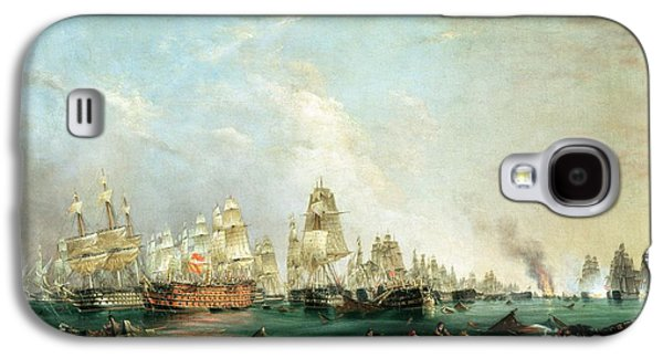 Historic Ship Galaxy S4 Cases - Surrender of the Santissima Trinidad to Neptune The Battle of Trafalgar Galaxy S4 Case by Lieutenant Robert Strickland Thomas