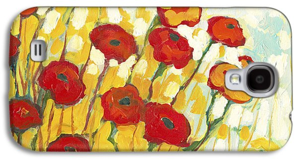 Yellow Paintings Galaxy S4 Cases - Surrounded in Gold Galaxy S4 Case by Jennifer Lommers