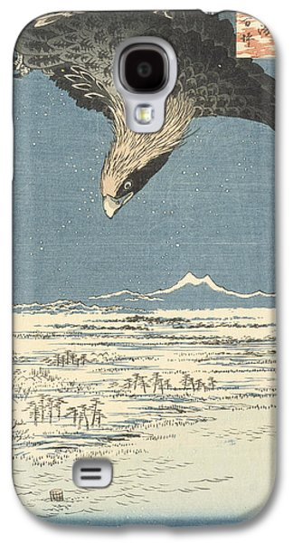 Flying Birds Galaxy S4 Cases - Susaki and the Jumantsubo Plain near Fukagawa Galaxy S4 Case by Hiroshige
