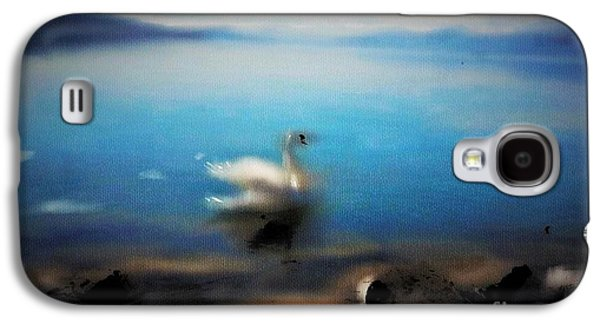 Swiss Mixed Media Galaxy S4 Cases - Swan Tranquility Galaxy S4 Case by Alex Thomas