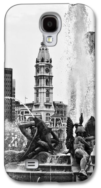 Downtown Franklin Galaxy S4 Cases - Swann Memorial Fountain in Black and White Galaxy S4 Case by Bill Cannon