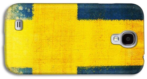 Swedish Flag Galaxy S4 Case by Setsiri Silapasuwanchai