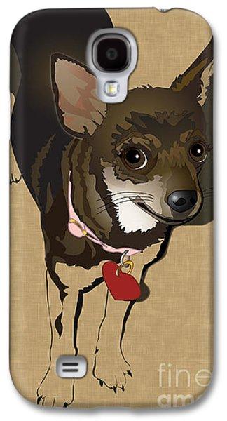 Puppies Digital Galaxy S4 Cases - Sweet Chi Galaxy S4 Case by Donna Newsom