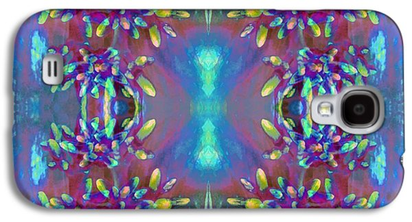 Abstract Digital Tapestries - Textiles Galaxy S4 Cases - Sweet Ixora Galaxy S4 Case by Suzi Freeman