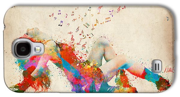 Sweet Jenny Bursting With Music Galaxy S4 Case by Nikki Smith