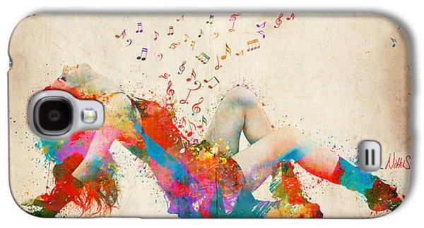 Sweet Jenny Bursting With Music Galaxy S4 Case by Nikki Smith