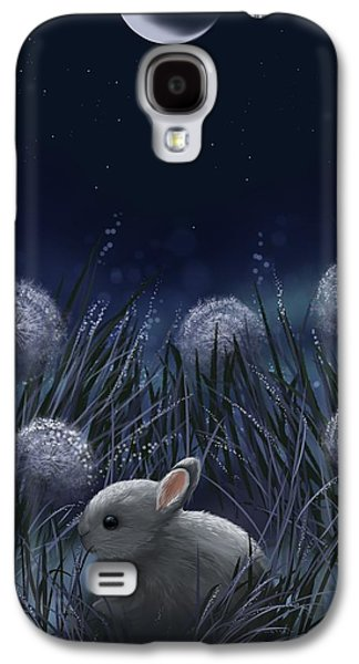 Night Sky Paintings Galaxy S4 Cases - Sweet night Galaxy S4 Case by Veronica Minozzi