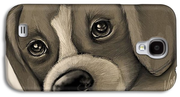 Puppies Galaxy S4 Cases - Sweet puppy Galaxy S4 Case by Veronica Minozzi