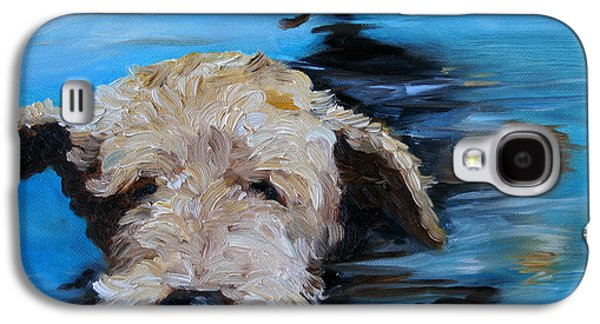 Recently Sold -  - Puppies Galaxy S4 Cases - Swim Galaxy S4 Case by Mary Sparrow