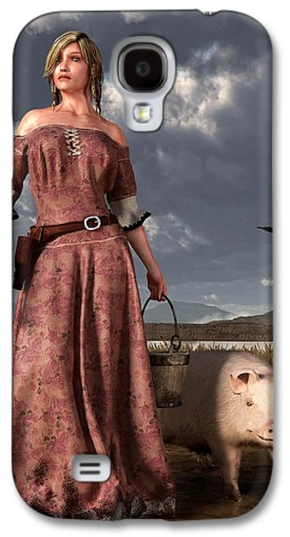 Remington Digital Galaxy S4 Cases - Swineherdess Galaxy S4 Case by Daniel Eskridge