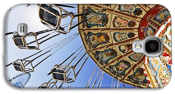 Machinery Galaxy S4 Cases - Swing Ride at the Fair Galaxy S4 Case by Jeremy Woodhouse
