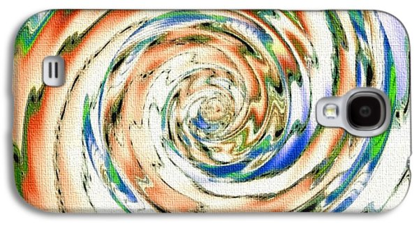 Abstract Digital Pastels Galaxy S4 Cases - Swirl Expresso Catus 1no. 1 V A Galaxy S4 Case by Gert J Rheeders