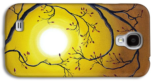 Abstract Nature Galaxy S4 Cases - Swirling Branch in Autumn Glow Galaxy S4 Case by Laura Iverson