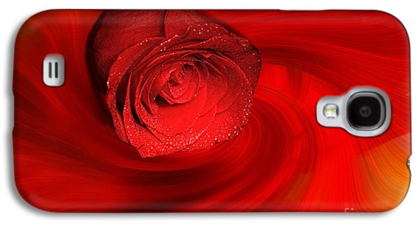 Recently Sold -  - Abstract Digital Galaxy S4 Cases - Swirling Rose Galaxy S4 Case by Geraldine DeBoer
