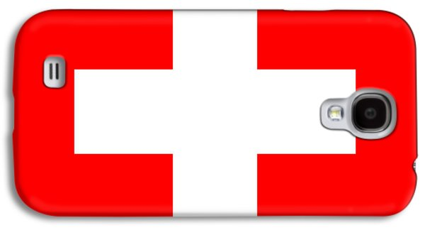 Switzerland Mixed Media Galaxy S4 Cases - Switzerland Flag Galaxy S4 Case by Frederick Holiday