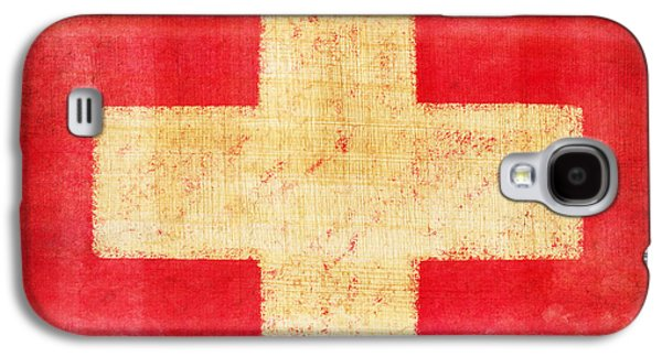 Grunge Galaxy S4 Cases - Switzerland flag Galaxy S4 Case by Setsiri Silapasuwanchai