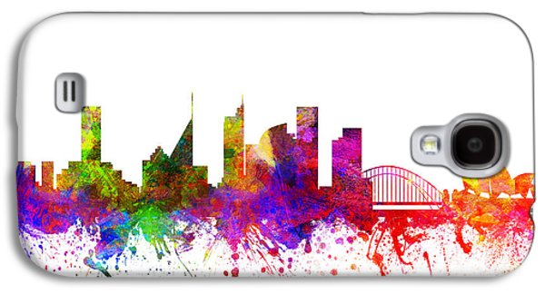 Australia Drawings Galaxy S4 Cases - Sydney Australia Cityscape 02 Galaxy S4 Case by Aged Pixel