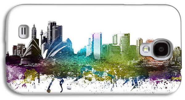 Australia Drawings Galaxy S4 Cases - Sydney cityscape 01 Galaxy S4 Case by Aged Pixel