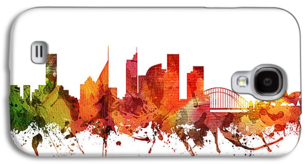 Australia Drawings Galaxy S4 Cases - Sydney Cityscape 04 Galaxy S4 Case by Aged Pixel