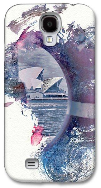 Abstract Digital Galaxy S4 Cases - Sydney Opera House Abstract Galaxy S4 Case by Az Jackson